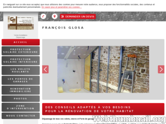 francois-glosa-stores-voletsroulants.fr website preview