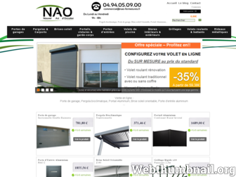 nao-fermetures.fr website preview
