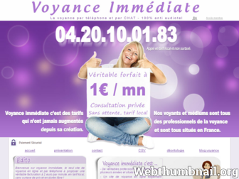voyance-immediate.fr website preview
