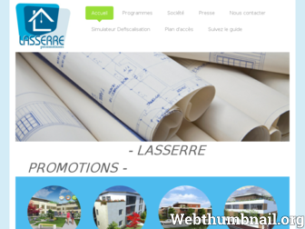 lasserre-promotion.fr website preview