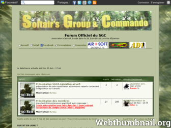 sgc-airsoft.forumactif.org website preview