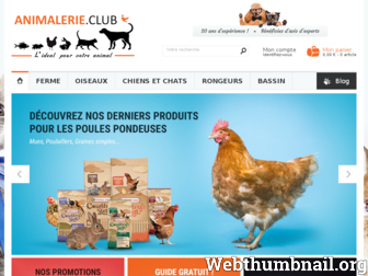 animalerie.club website preview
