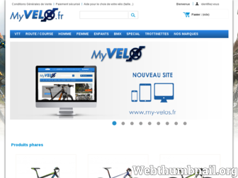 my-velo.fr website preview