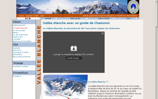 vallee-blanche.fr website preview