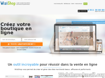 wizishop.fr website preview