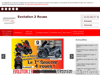 evolution2roues.fr website preview