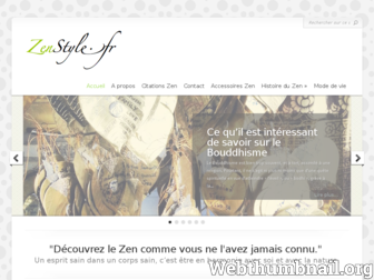 zenstyle.fr website preview
