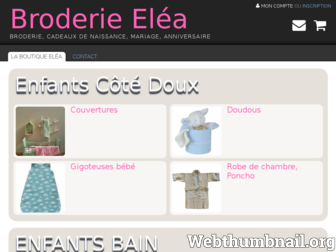 broderie-elea.fr website preview dac7abff700