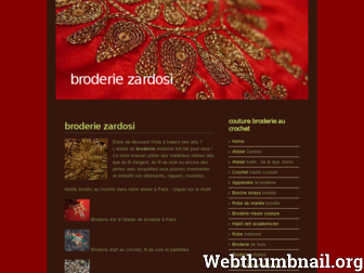 zardosi.fr website preview