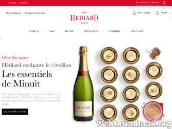 hediard.fr website preview
