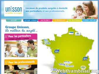 unisson-surgeles.fr website preview