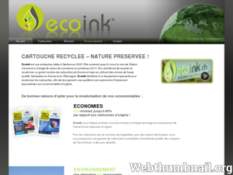 ecoink.ch website preview