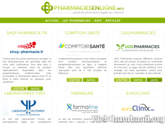 pharmaciesenligne.info website preview