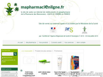 pharmaciedesmarronniers63.pharminfo.fr website preview