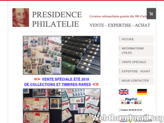 presidencephilatelie.fr website preview