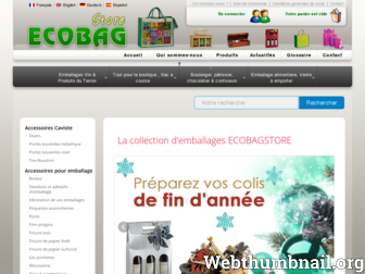 ecobagstore.fr website preview