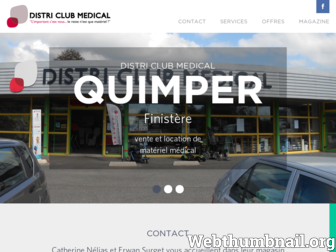 quimper.districlubmedical.fr website preview