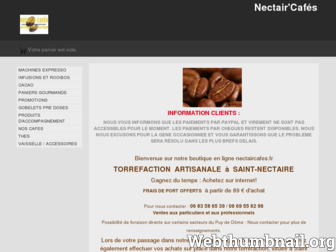 nectaircafes.fr website preview