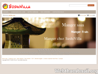 sushivilla.fr website preview