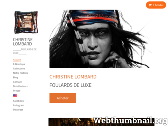 christinelombard.fr website preview