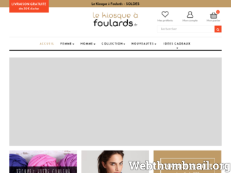 lekiosqueafoulards.fr website preview