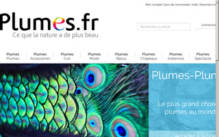 plumes.fr website preview