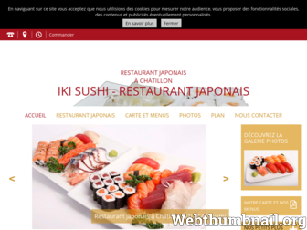 ikisushi.fr website preview