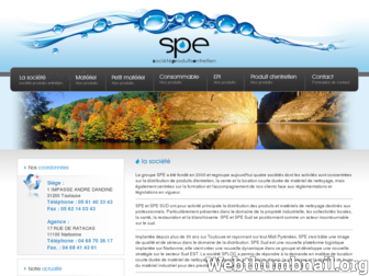 spe-france.fr website preview