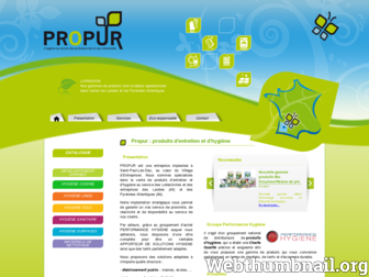 propur-hygiene.fr website preview
