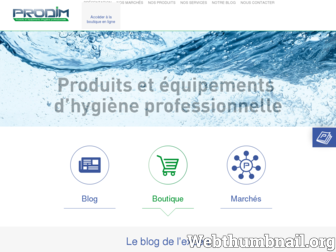 prodim.fr website preview