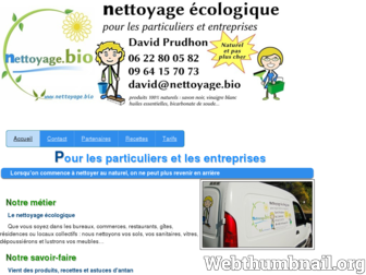 nettoyage.bio website preview