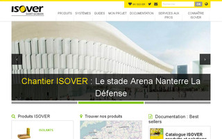 isover.fr website preview