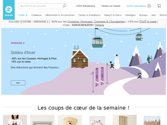 zazzle.fr website preview