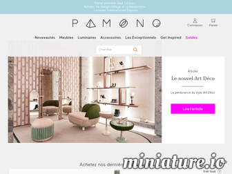pamono.fr website preview