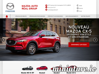 labege.mazda.fr website preview