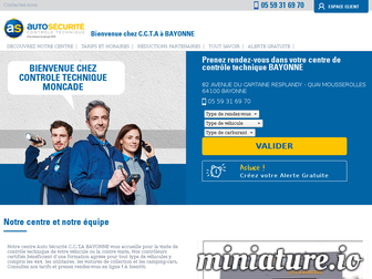 controle-technique-bayonne-02.autosecurite.com website preview