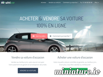 winicar.fr website preview