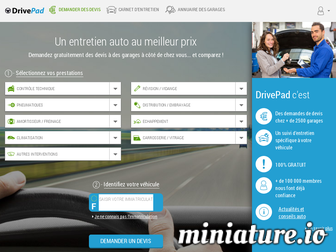 drivepad.fr website preview