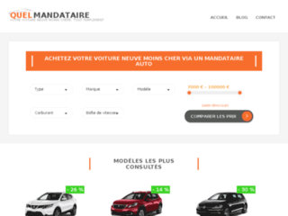 quelmandataire.fr website preview